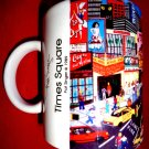 Vintage TIMES SQUARE Coffee Cup 1989 New York City Pat Singer Mug