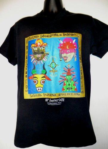 Vintage Lafayette Louisiana 1996 T-Shirt Size Medium Festival International de Louisiane