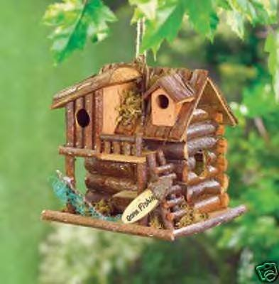 Gone Fishin' Birdhouse - delightful fishing cabin!