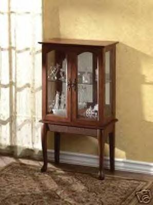 Antique Styled Curio Cabinet with Glass Doors - BEAUTIFUL!!