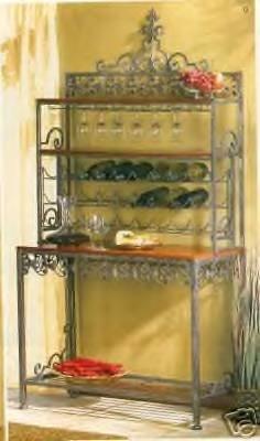 European Style Wine Rack / Wine Bar - ornate, beautiful decor!  SHIPS FREE!!
