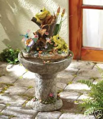 Frog Fountain - Water Fountain - colorfully crafted!!  FREE SHIPPING!!