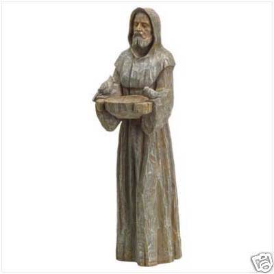 Saint Francis Birdbath w/ Feeder - great garden ornament!!