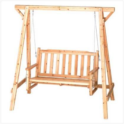 Yard / Garden Swing - chair swing made of sturdy russian pine!