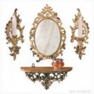 Wall Decor - Mirror, Shelf, and Sconce Ensemble - very classy!!