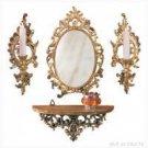 Wall Decor - Mirror, Shelf, and Sconce Ensemble - very classy!!