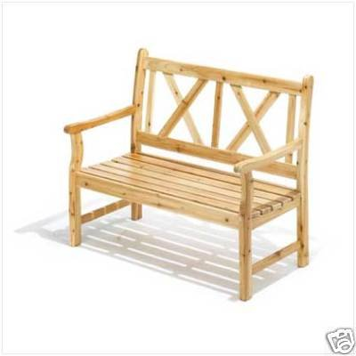 Outdoor Garden Bench made of Pine wood - sturdy and strong!