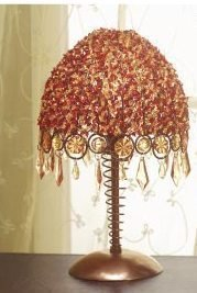 Autumn Splendor Beaded Table Lamp - FREE SHIPPING!