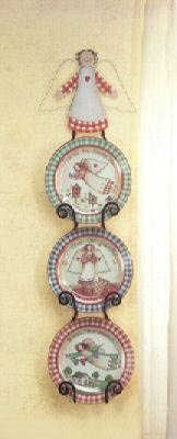 Decorative Angel Plate Set - 4 piece set of angel plates!
