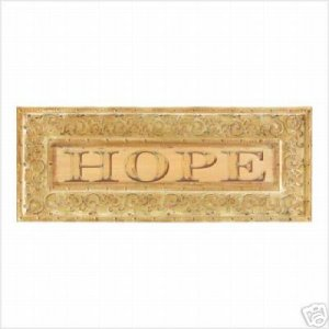 Vintage Styled HOPE Wall Plaque - Wall Decor - SHIPS FREE