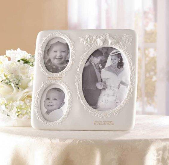 Porcelain Wedding Photo Frame - wedding frame.  SHIPS FREE!!