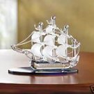 Sailboat on Crystal Seas - lovely glass sailboat.