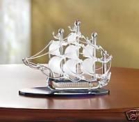 Sailboat on Crystal Seas - lovely glass sailboat.