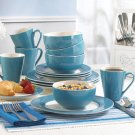 16-piece Blue Dinnerware Set - Blue Bone China Dinnerware Set