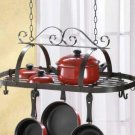 Hanging Pot Holder - Wrought Iron Hanging Pot Holder