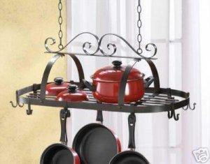 Hanging Pot Holder - Wrought Iron Hanging Pot Holder
