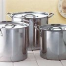 Stainless Steel Stock Pot Set - Set of 3 - Cookware