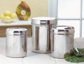 Stainless Steel Canisters - Canister Set - Set of 3 - Stainless Steel
