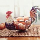 Metal Rooster Basket - Country Decor - Rooster Basket