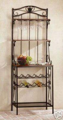 Baker's Style Wine Rack - Wine and Glass Rack