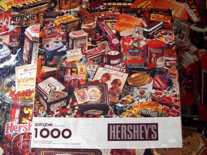 SOLD!  Springbok Puzzle 1997 HERSHEY'S 1000 Pieces Complete