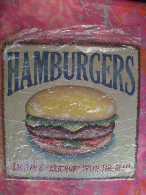 NEW (RETRO VINTAGE) HAMBURGER Cafe /Diner Large Metal Sign