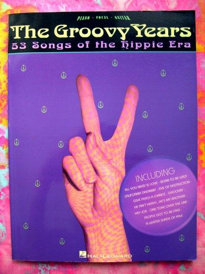 1960's GROOVY YEARS Songbook 53 Hippie Era Songs Piano Guitar