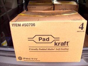 100 Kraft Padded Mailing / Mailer Envelopes Size #4
