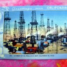 Vintage Greetings From California ~ Forest of Oil Wells in a Busy CA Oil Field