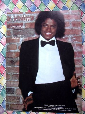 Rare 1979 She's Out Of My Life Sheet Music Michael Jackson