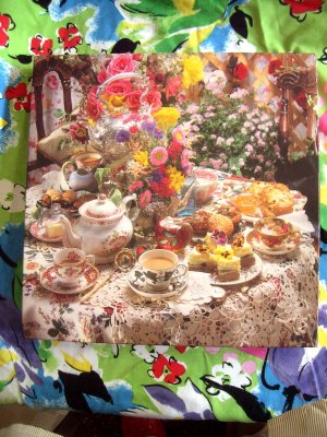 "SEALED Springbok's ""WHO'S TEA PARTY?"" Roses Puzzle Series PZL2449"