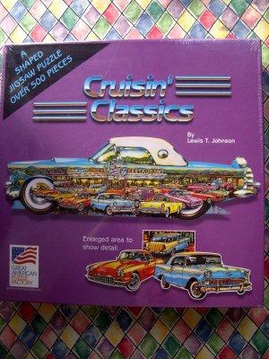 NEW Car T-Bird Cruisin' Classics 500 Piece Puzzle  Great American Puzzle Factory
