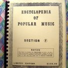 Vintage FAKE Songbook ~ Encyclopedia of Popular Music Section F Limited Edition