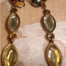 Vintage Glass Clip-On Earrings