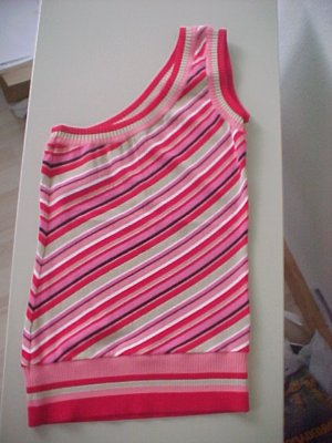 Pretty One-Shoulder Striped Top by Bebe, Size S