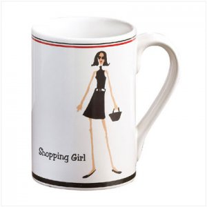 Shopping Girl Mug