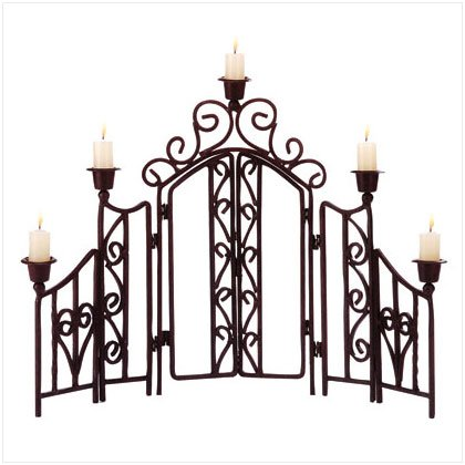 Scrollwork Candle Screen