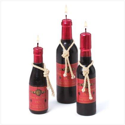 Wine Bottle Candle Set
