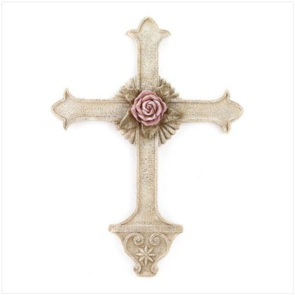 Rose Centerpiece Wall Cross