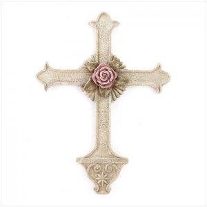 Rose Centerpiece Wall Cross