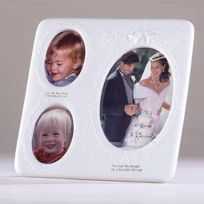 White Porcelain Wedding Picture Frame