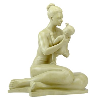 Mother and Child Stone Finish Statue