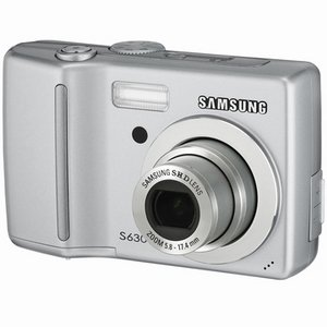 SAMSUNG DIGIMAX S630 6MP DIGITAL CAMERA W/ 3X OPTICAL ZOOM (SILVER)