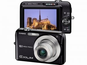 Casio Exilim EX-Z1050 10.1 Megapixel 3x optical Zoom Digital Camera (Black)