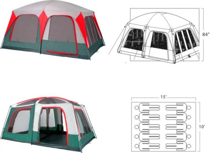 NEW Mt. Greylock 10 Person family Cabin tent