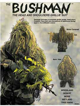 NEW Bushman Head and Shoulders Ghillie Suit - Mossy