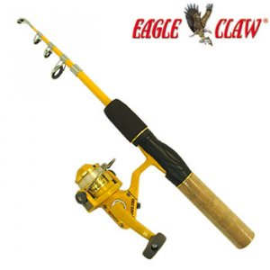 NEW EAGLE CLAW® TELESCOPING FISHING ROD