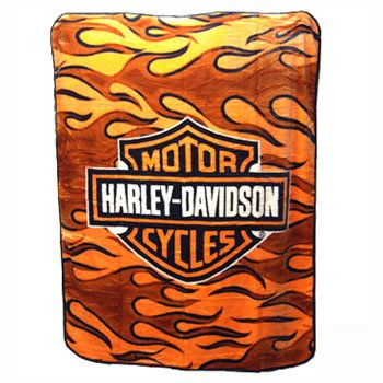 NEW HARLEY DAVIDSON® SUPER PLUSH THROW-BLANKET