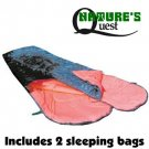 NEW NATURE'S QUEST DOUBLE SLEEPING BAGS