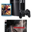 PlayStation 3 40GB w/ Bonus Spider-Man 3 (Blu-ray) and Metal Gear Solid 4: Guns of the Patriots